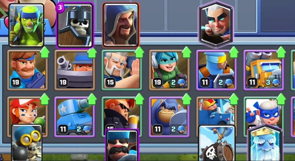 cards comparison vs Clash Royale