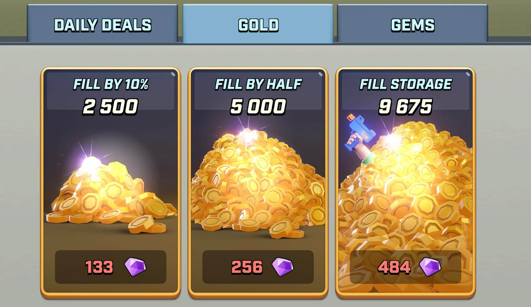 rush wars gold packages