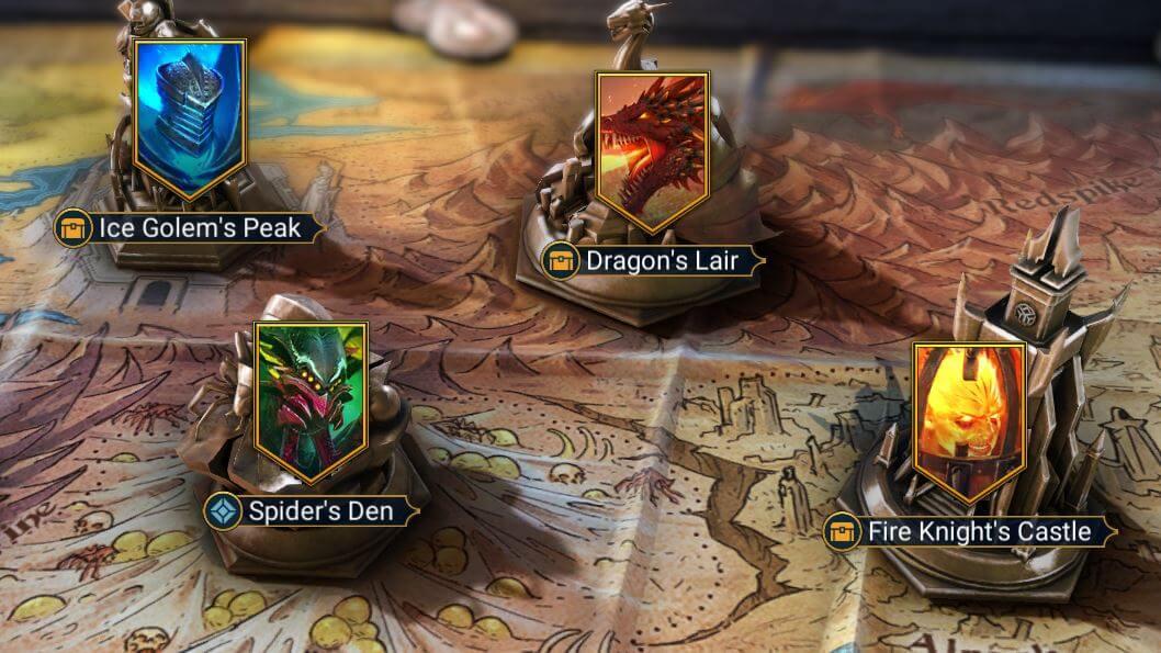 gear dungeons raid shadow legends