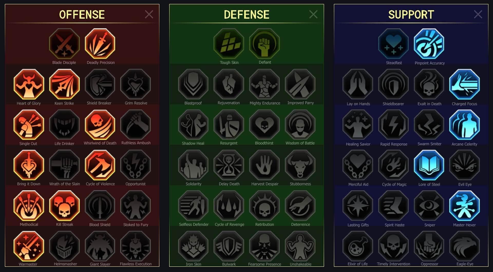 Dracomorph-arena-campaign-masteries