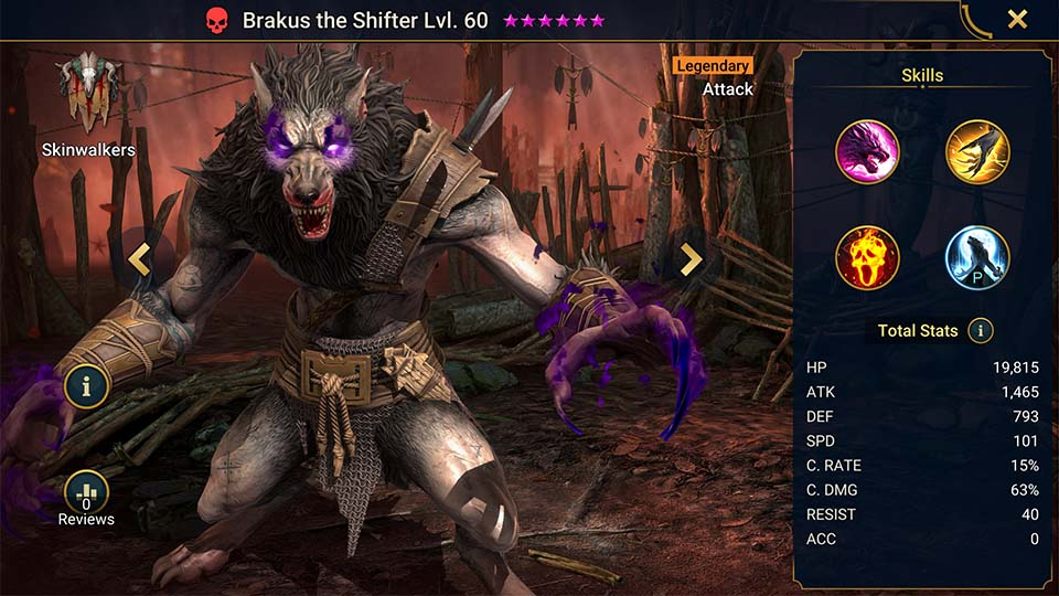 Raid Shadow Legends Brakus the Shifter