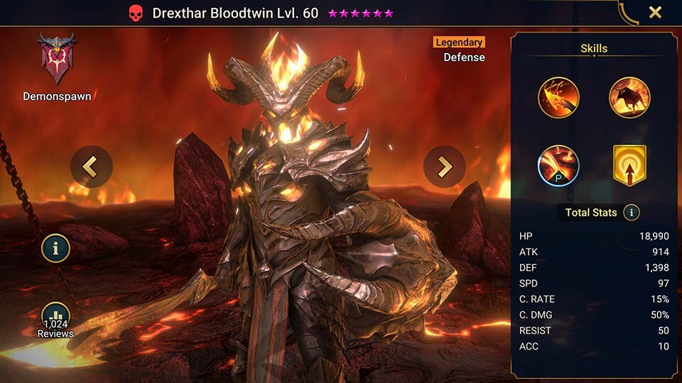 Raid Shadow Legends Drexthar Bloodtwin