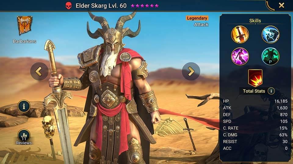 Raid Shadow Legends Elder Skarg