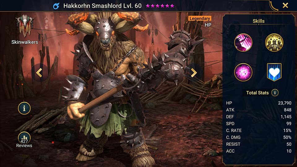 Raid Shadow Legends Hakkorhn Smashlord