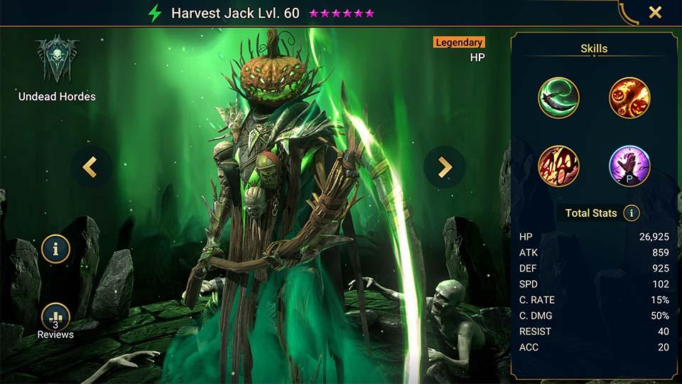 Raid Shadow Legends Harvest Jack