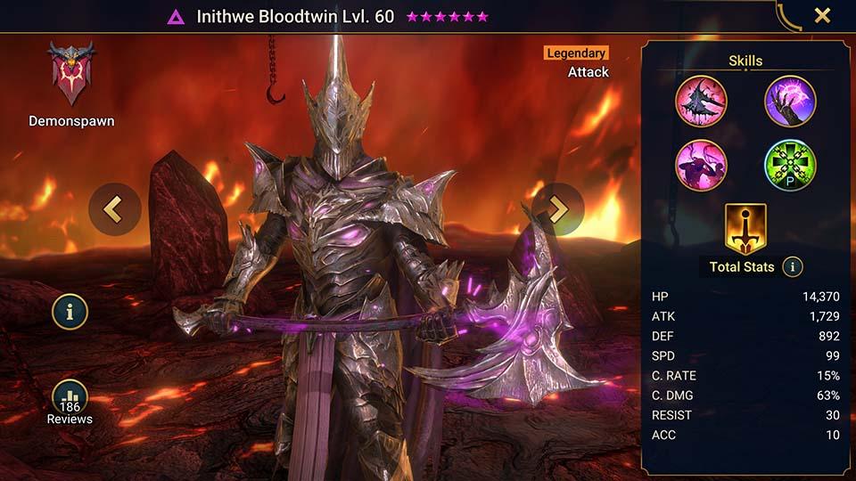 Raid Shadow Legends Inithwe Bloodtwin