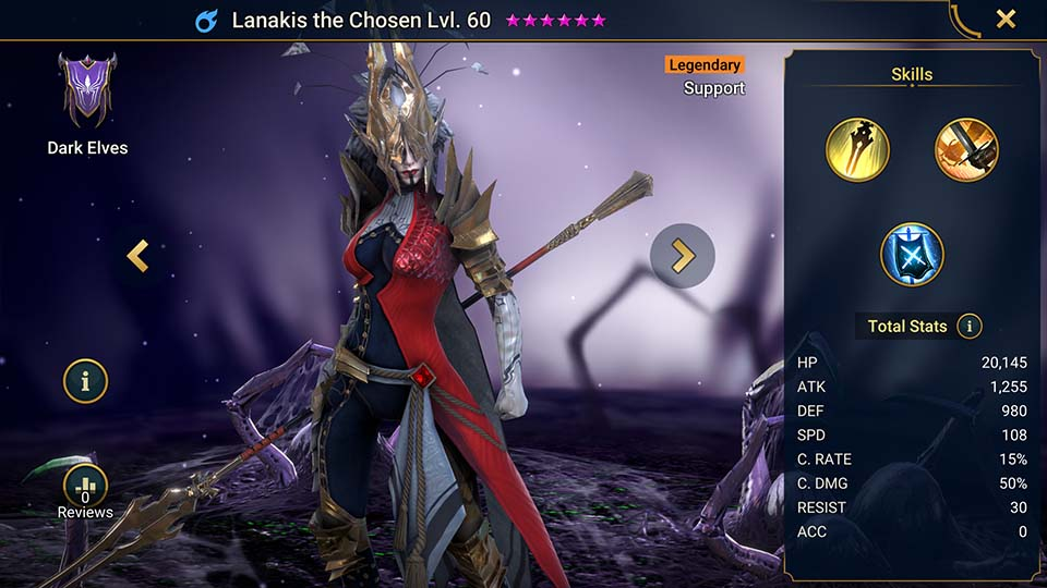 Raid Shadow Legends Lanakis the Chosen