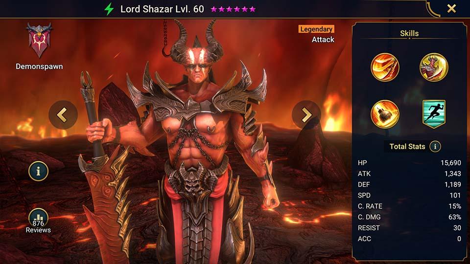 Raid Shadow Legends Lord Shazar