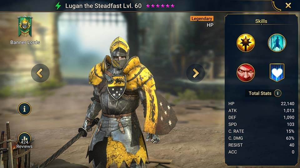 Raid Shadow Legends Lugan the Steadfast