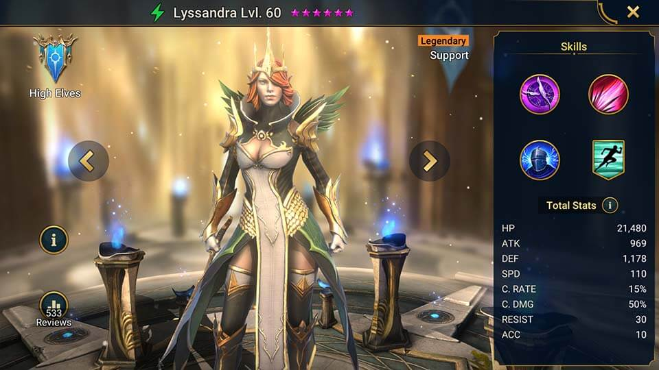 Raid Shadow Legends Lyssandra