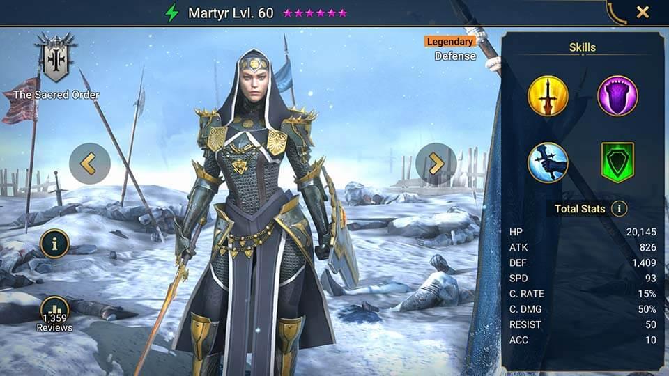 Raid Shadow Legends Martyr