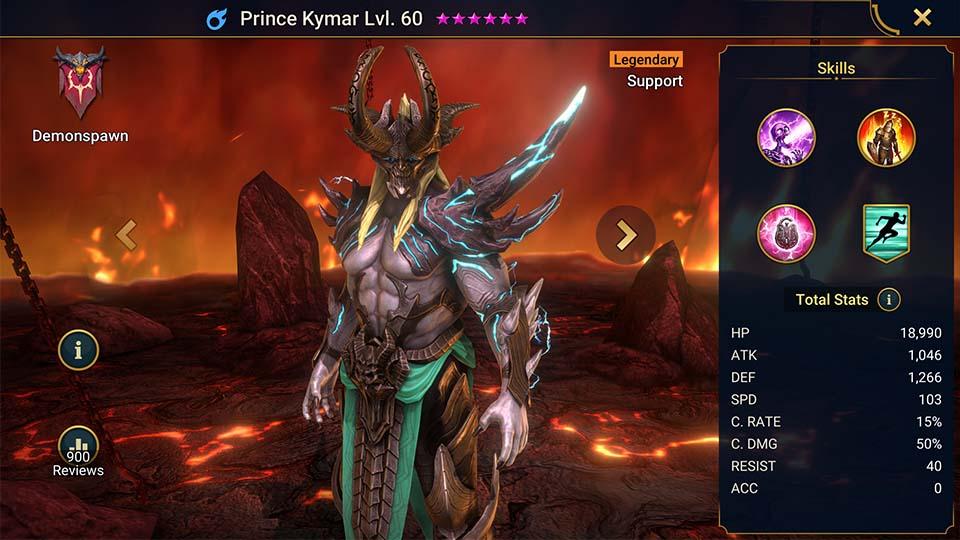 Raid Shadow Legends Prince Kymar