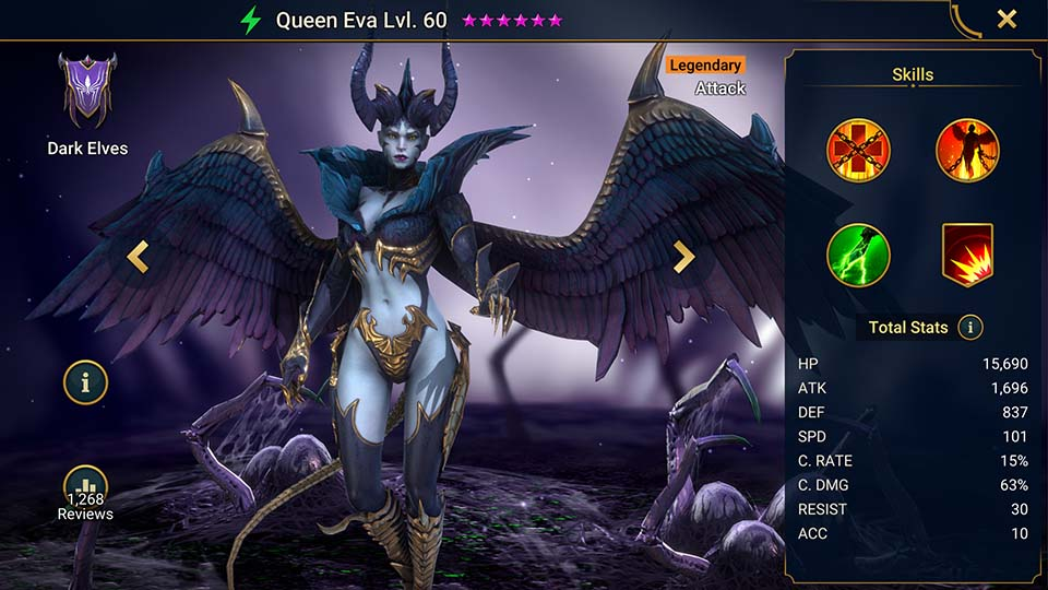 Raid Shadow Legends Queen Eva