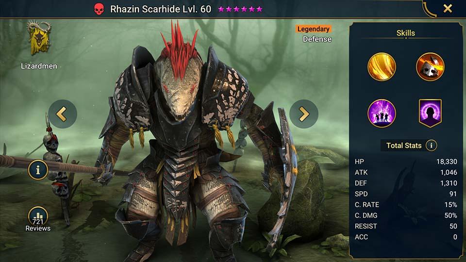 Raid Shadow Legends Rhazin Scarhide