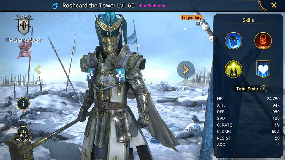Raid Shadow Legends Roshcard the Tower