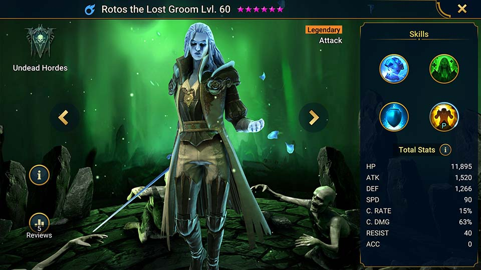 Raid Shadow Legends Rotos the Lost Groom