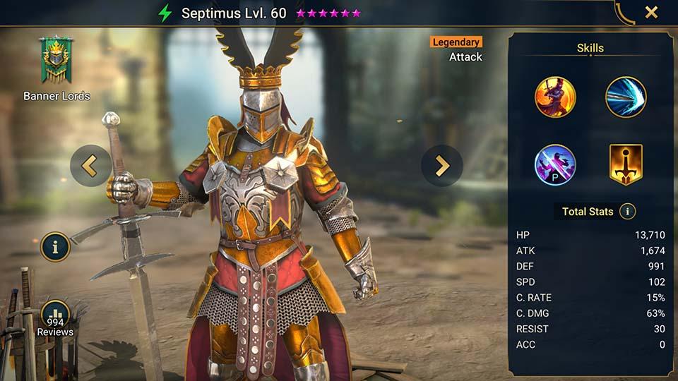 Raid Shadow Legends Septimus