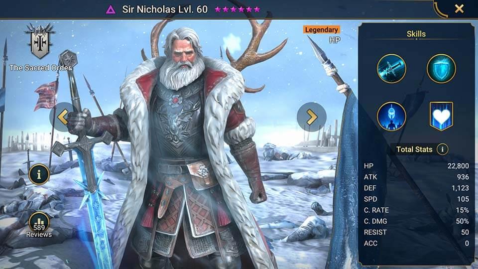 Raid Shadow Legends Sir Nicholas