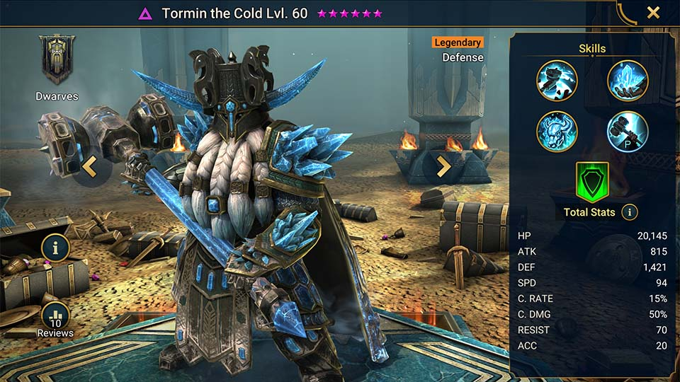 Raid Shadow Legends Tormin the Cold