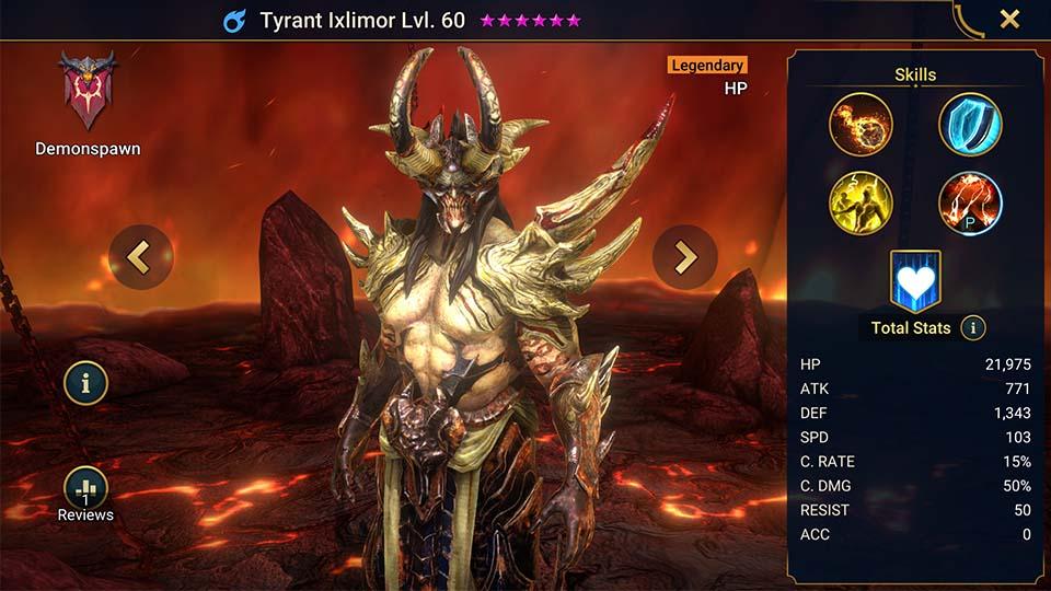 Raid Shadow Legends Tyrant Ixlimor