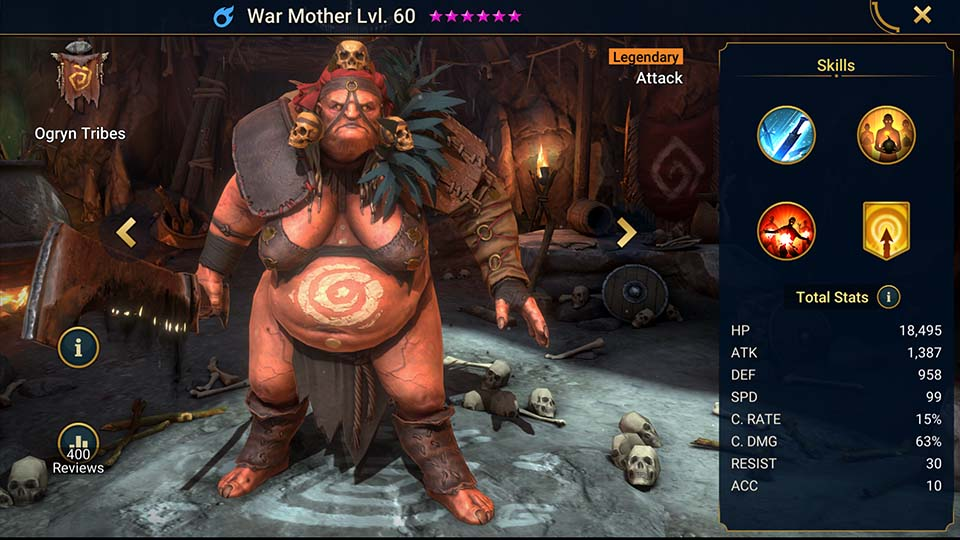 Raid Shadow Legends War Mother
