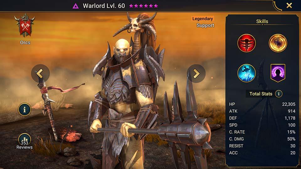 Raid Shadow Legends Warlord
