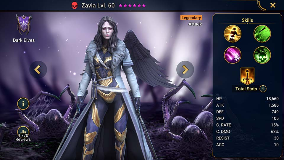 Raid Shadow Legends Zavia