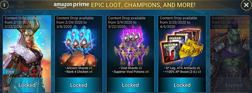 amazon prime raid benefits