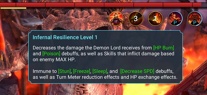 infernal resilience skill