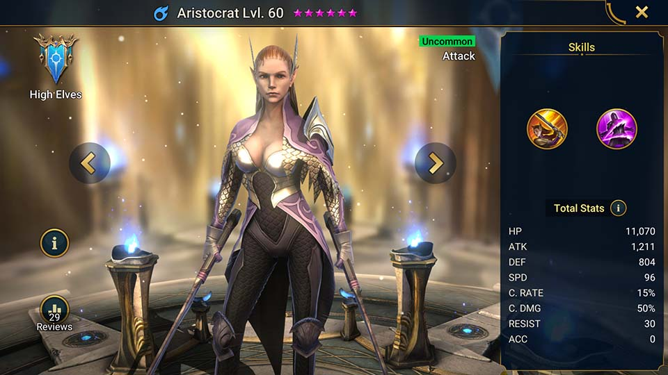 Aristocrat Raid Shadow Legends