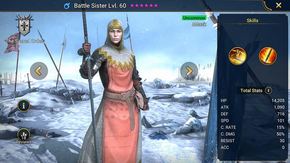 Battle Sister Raid Shadow Legends