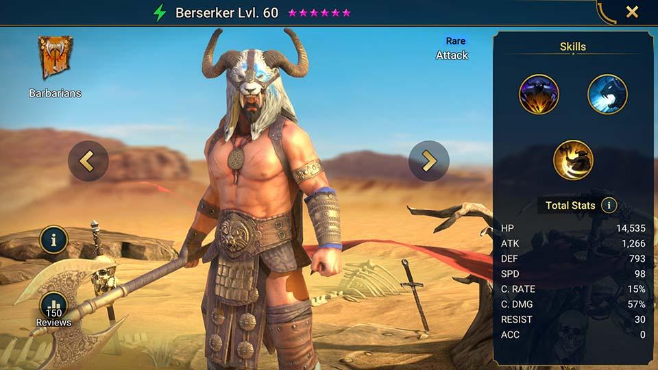Berserker Raid Shadow Legends