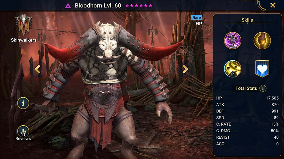 Bloodhorn Raid Shadow Legends
