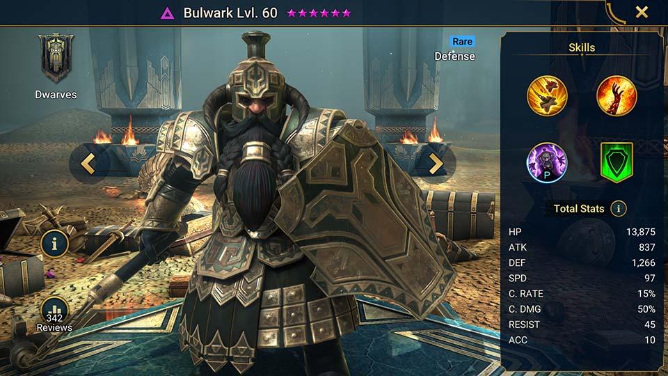 Bulwark Raid Shadow Legends