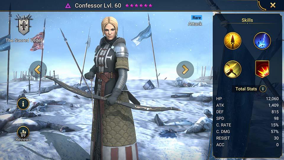 Confessor Raid Shadow Legends