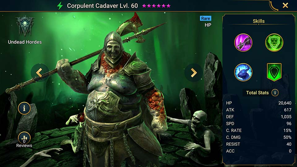 Corpulent Cadaver Raid Shadow Legends