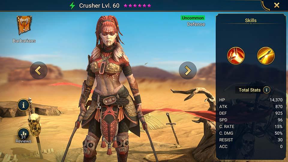 Crusher Raid Shadow Legends