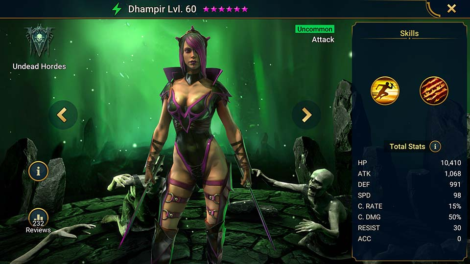Dhampir Raid Shadow Legends