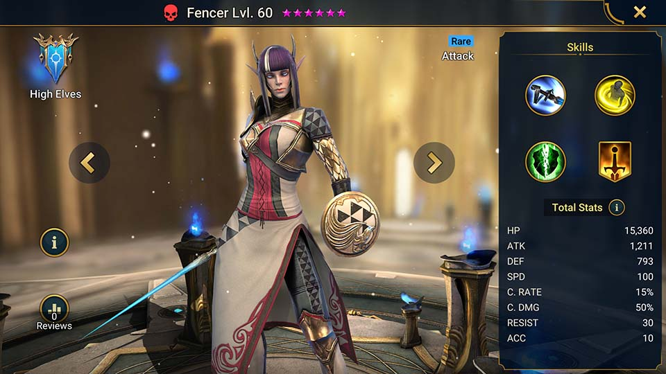 Fencer Raid Shadow Legends