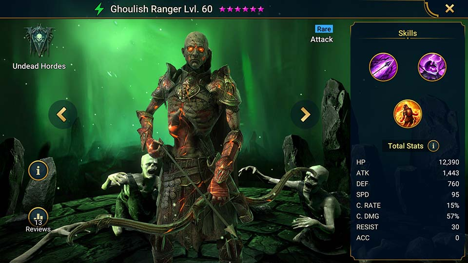 Ghoulish Ranger Raid Shadow Legends