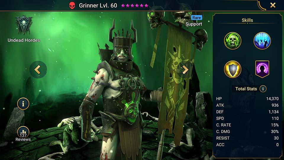 Grinner Raid Shadow Legends