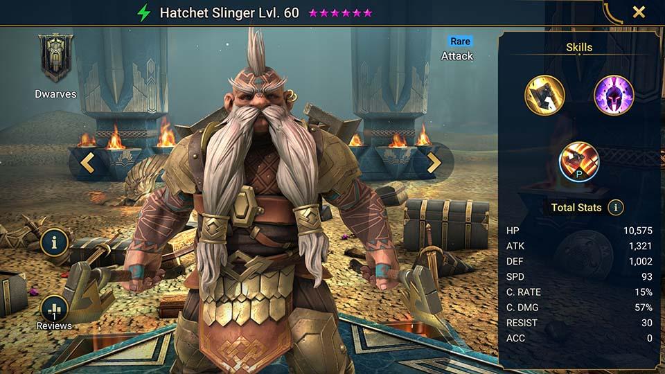 Hatchet Slinger Raid Shadow Legends
