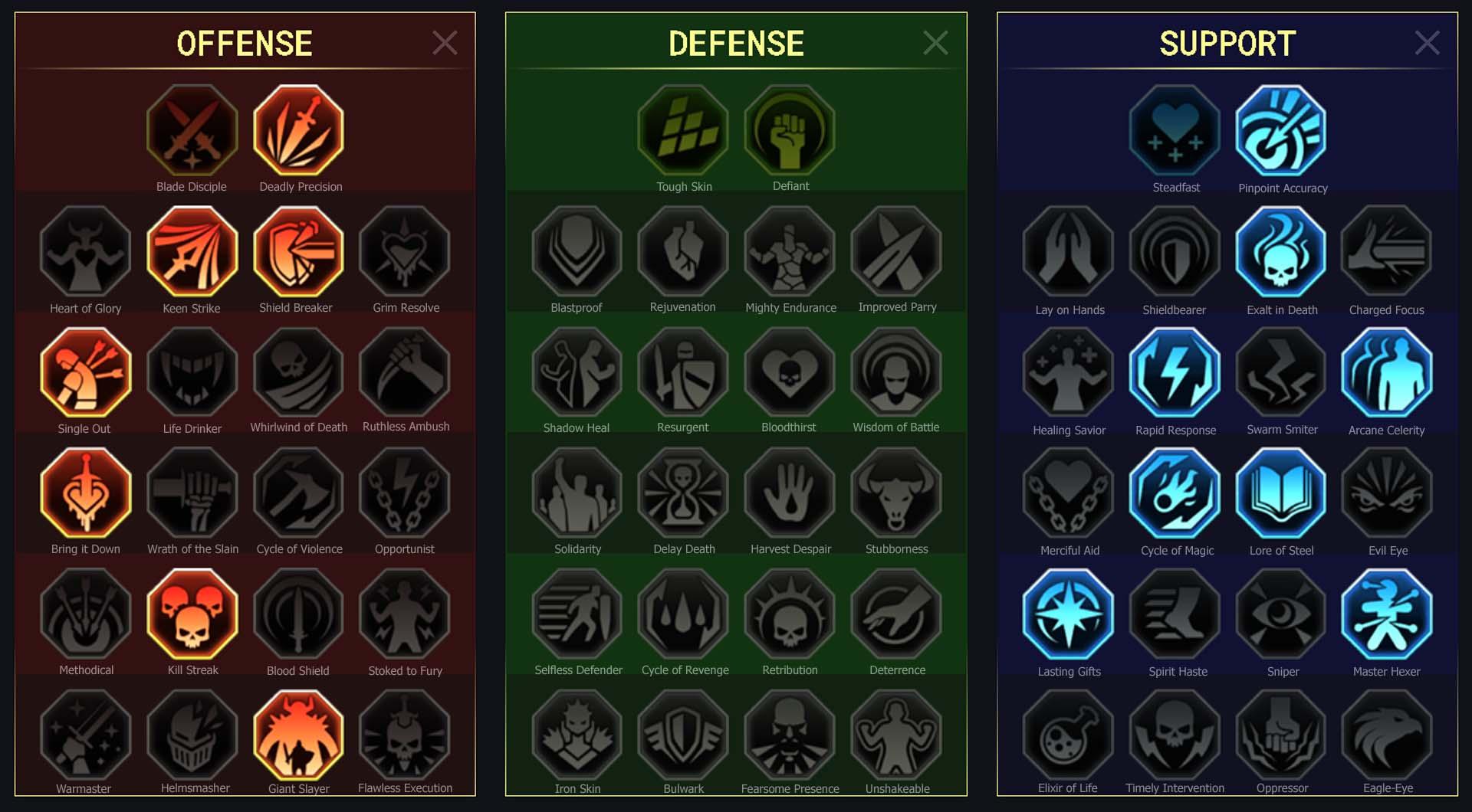 Lightsworn Arena Campaign Clan Boss Dungeons Faction Wars