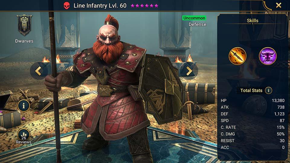 Line Infantry Raid Shadow Legends