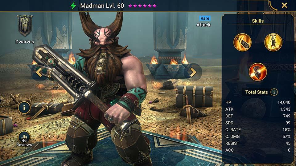 Madman Raid Shadow Legends