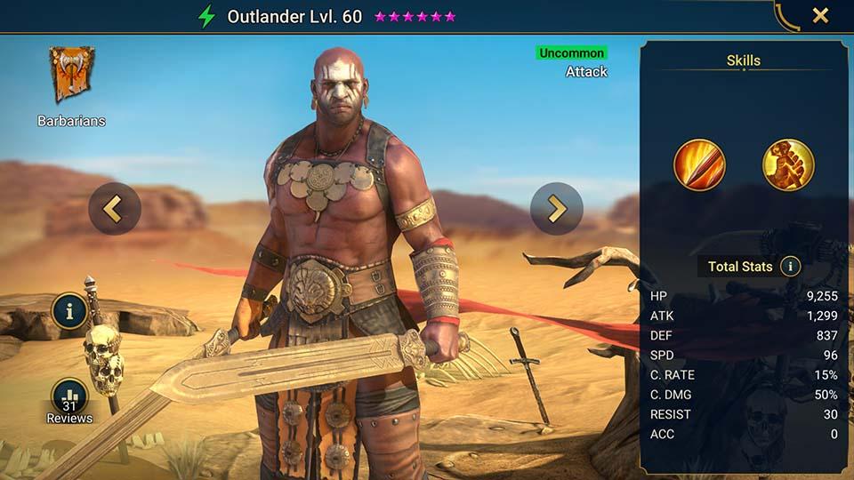 Outlander Raid Shadow Legends