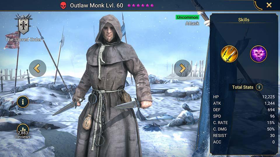 Outlaw Monk Raid Shadow Legends