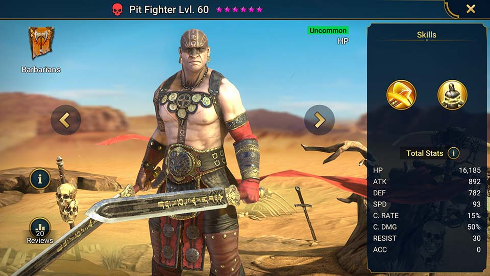 Pit Fighter Raid Shadow Legends