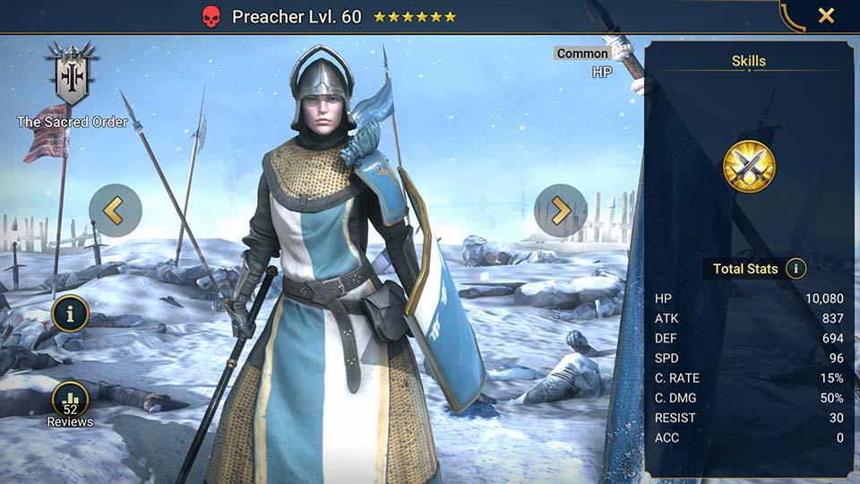 Preacher Raid Shadow Legends