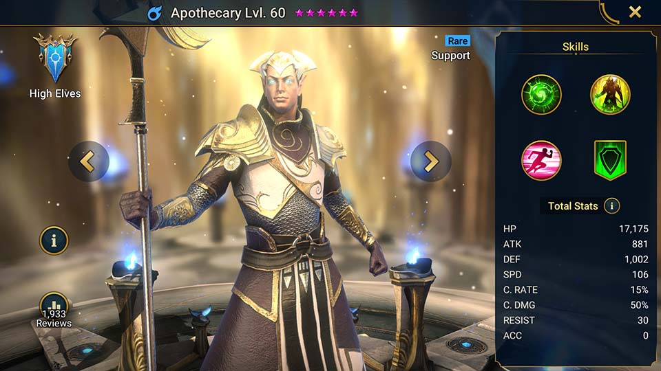 Raid Shadow Legends Apothecary